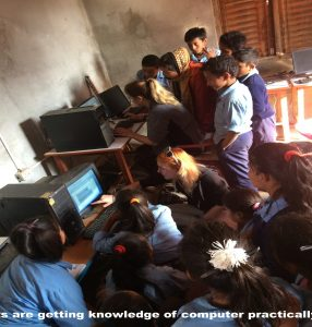 Nepal School helped by volunteers